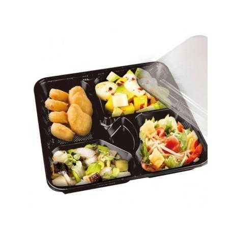 emballage alimentaire usage unique et boite repas pour snack coffret repas cinq compartiment. Black Bedroom Furniture Sets. Home Design Ideas